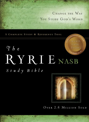 9780802489364: The Ryrie NAS Study Bible Genuine Leather Black Red Letter