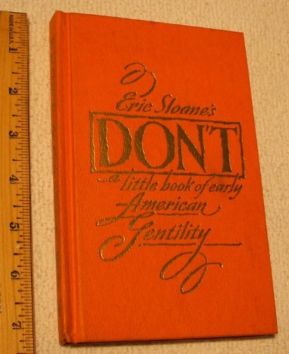 9780802703897: Don't : A little Book of Early American Gentility