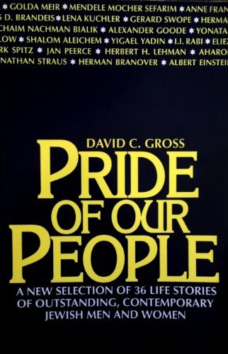 9780802726483: Pride of Our People: A New Selection of 36 Life Stories of Outstanding, Contemporary Jewish Men and Women (Walker Large Print Books)