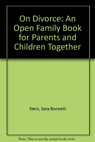 9780802763440: On Divorce: An Open Family Book for Parents and Children Together