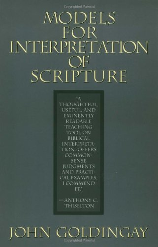 9780802801456: Models for Interpretation of Scripture