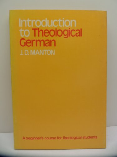 9780802815149: Introduction to Theological German (English and German Edition)