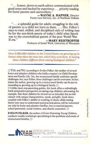 Raising Other People's Kids - Successful Child-Rearing: Felker, Evelyn
