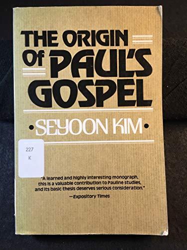 9780802819338: Origin of Paul's Gospel
