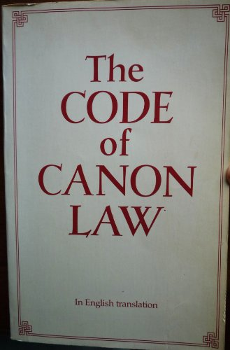 9780802819789: Title: The Code of Canon Law In English Translation