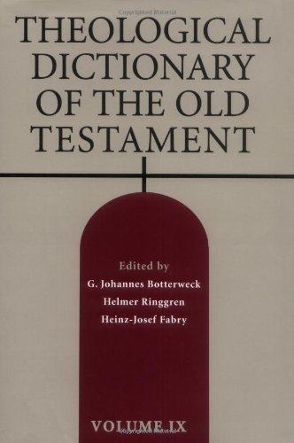 9780802823335: Theological Dictionary of the Old Testament, Vol. 9
