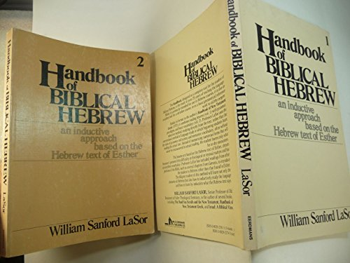 9780802823793: Handbook of Biblical Hebrew: An Inductive Approach Based on the Hebrew Text of Esther
