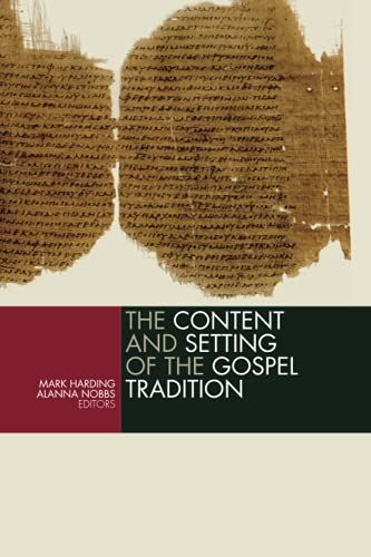 Content and Setting of the Gospel Tr
