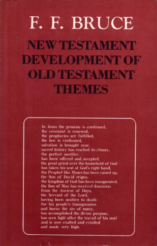 9780802833587: The New Testament Development of Old Testament Themes