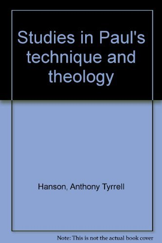9780802834522: Studies in Paul's technique and theology