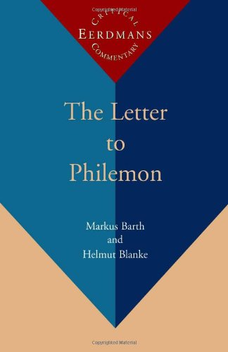 9780802838292: The Letter to Philemon: A New Translation With Notes and Commentary (Eerdmans Critical Commentary)