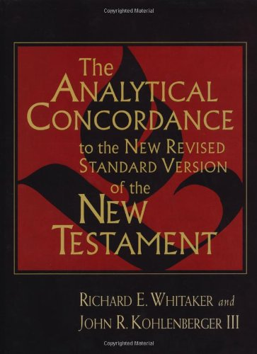 9780802838384: The Analytical Concordance to the New Revised Standard Version of the New Testament