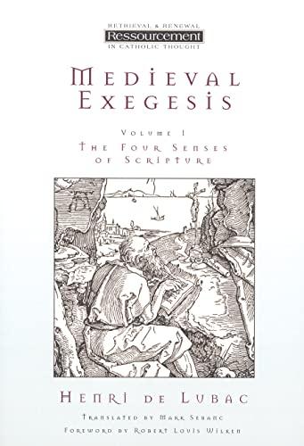 9780802841452: Medieval Exegesis: The Four Senses of Scripture: 1