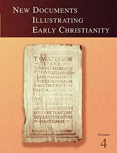 9780802845146: New Documents Illustrating Early Christianity, 4: A Review of Greek Inscriptions and Papyri Published in 1979