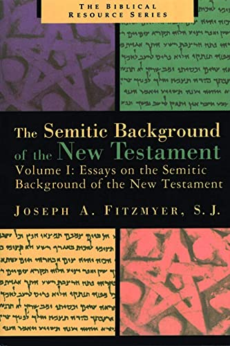 9780802848451: Essays on the Semitic Background of the New Testament