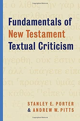 9780802872241: Fundamentals of New Testament Textual Criticism
