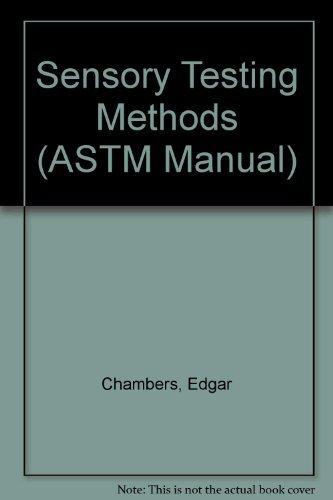 9780803120686: Sensory Testing Methods (ASTM Manual)