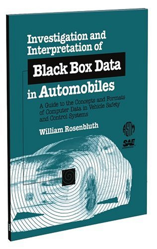 9780803120914: Investigation and Interpretation of Black Box Data in Automobiles (Monograph (American Society for Testing and Materials), 4.)