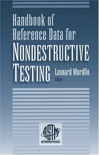 9780803120921: Handbook of Reference Data for Nondestructive Testing (ASTM Data Series Publication)