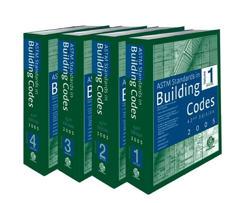 9780803133402: ASTM Standards in Building Codes, 42nd Edition (4 Volume Set)