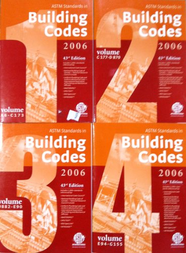 9780803142626: ASTM Standards in Building Codes, 43rd Edition ( 4 vol. set)