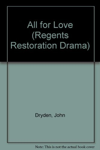 9780803203808: All for Love (Regents Restoration Drama)