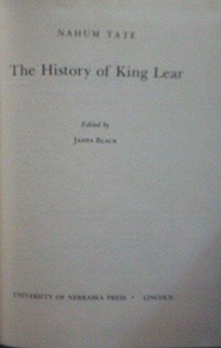 9780803203822: The History of King Lear (Regents Restoration Drama)