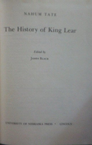 9780803203822: The History of King Lear (Regents Restoration Drama)