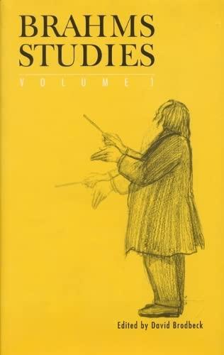 9780803212435: Brahms Studies, Volume 1