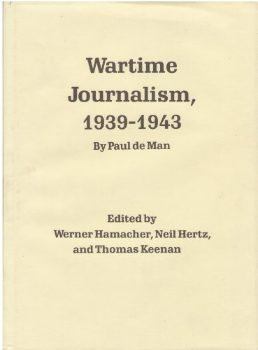 9780803216846: Wartime Journalism, 1939-1943