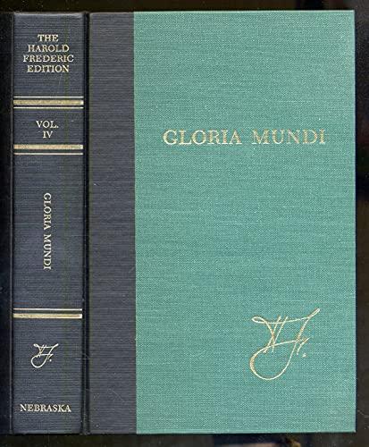 Beispielbild für Gloria Mundi zum Verkauf von Better World Books