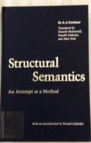 Structural Semantics: An Attempt at a Method