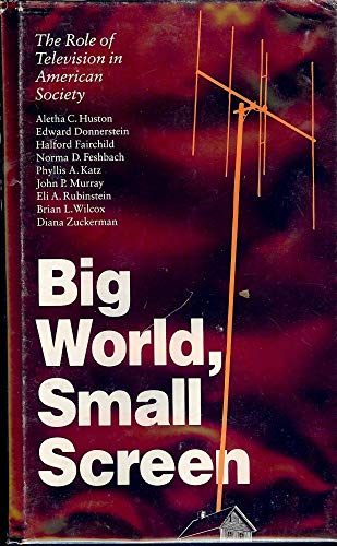 9780803223578: Big World, Small Screen: The Role of Television in American Society (CHILD, YOUTH, AND FAMILY SERVICES)