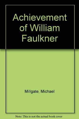 9780803230545: Achievement of William Faulkner