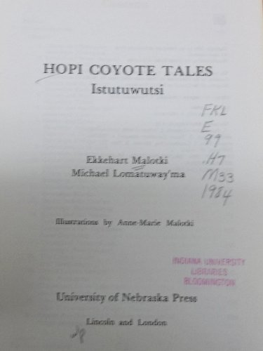 9780803230880: Hopi Coyote Tales: Istutuwutsi (American Tribal Religions)