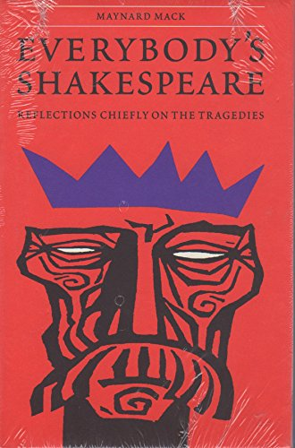 9780803231610: Everybody's Shakespeare: Reflections Chiefly on the Tragedies