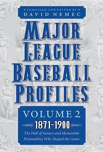 Major League Baseball Profiles, Vol. 2, 1871-1900