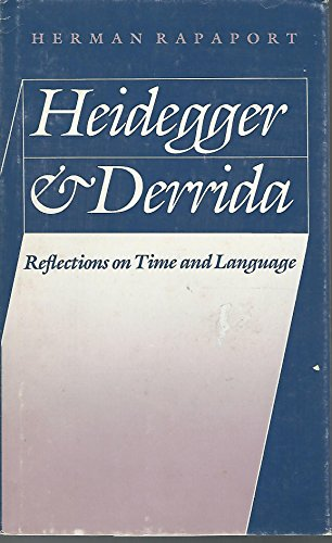 9780803238879: Heidegger and Derrida: Reflections on Time and Language