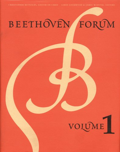 Beethoven Forum. [Vol. 1 only].