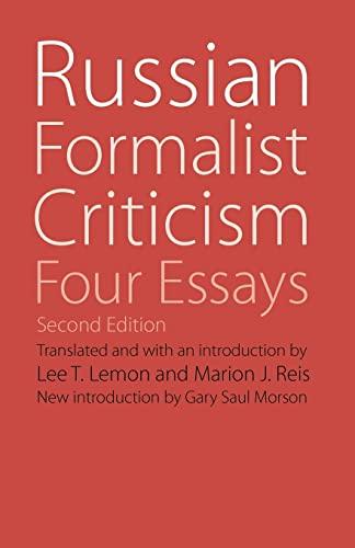 9780803239982: Russian Formalist Criticism: Four Essays