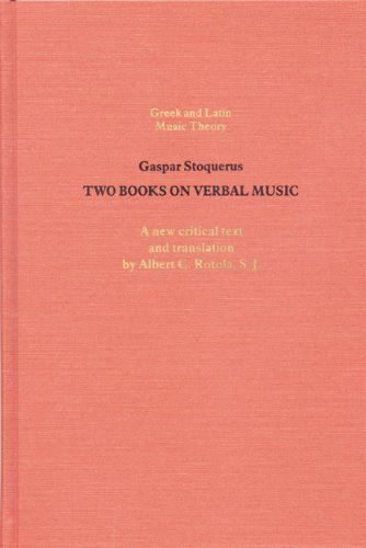TWO BOOKS ON VERBAL MUSIC. A New Critical Text and Translation on facing pages, with an introduct...