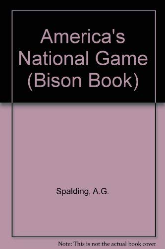 9780803242203: America's National Game (Bison Book)