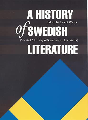 9780803247505: A History of Swedish Literature (Histories of Scandinavian Literature)