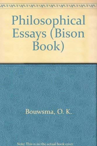 9780803250192: Philosophical Essays (Bison Book)