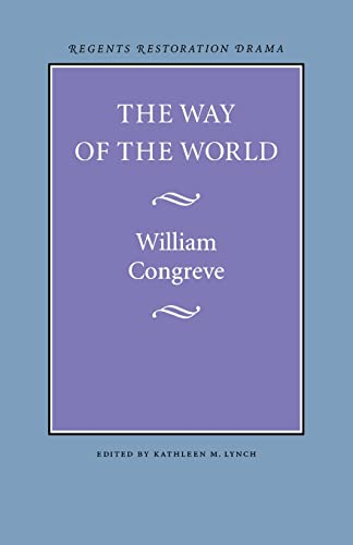 9780803253544: The Way of the World (Regents Restoration Drama)
