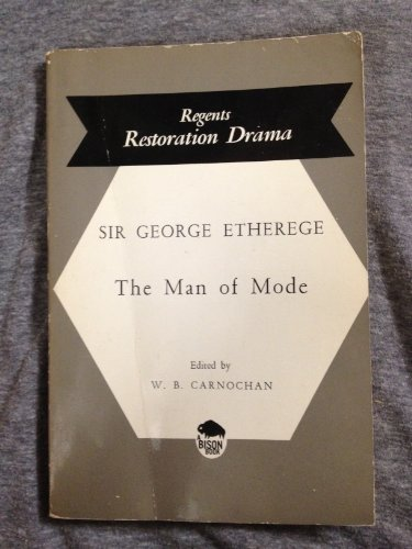 9780803253568: The Man of Mode (Regents Restoration Drama)