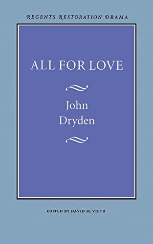 9780803253797: All for Love (Regents Restoration Drama Series)