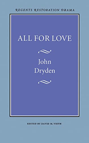 9780803253797: All for Love (Regents Restoration Drama Series)