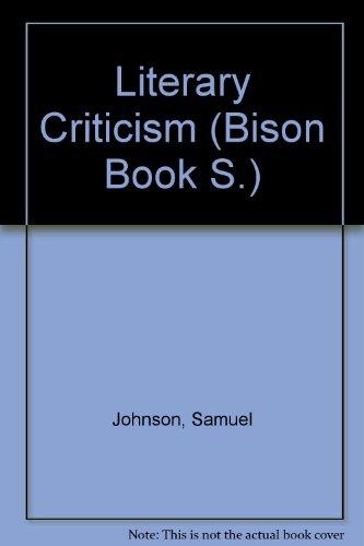 9780803254671: Literary Criticism (Bison Book)