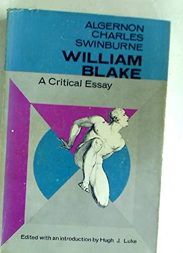 William Blake A Critical Essay  Abebooks  Algernon   William Blake A Critical Essay